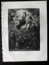 After Murillo 1875 Art Journal Print. Apotheosis of the Virgin